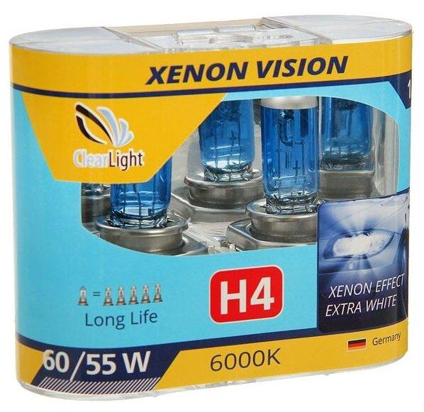 Лампа автомобильная галогенная ClearLight XenonVision MLH4XV H4 60/55W 2 шт. — купить по выгодной цене на Яндекс.Маркете