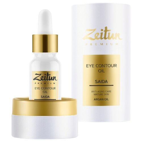 Zeitun Разглаживающий масляный эликсир SAIDA для контура глаз с арганой и ладаном (40+) 10 мл zeitun преображающий масляный эликсир niqa для проблемной кожи лица с серебром 30 мл
