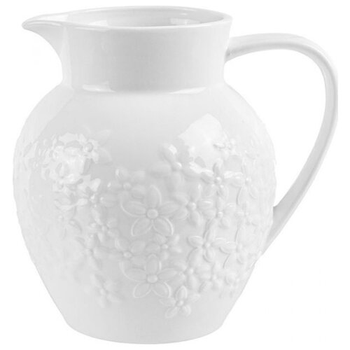 Подарочный кувшин Elan gallery Цветочки 1.3 л белый