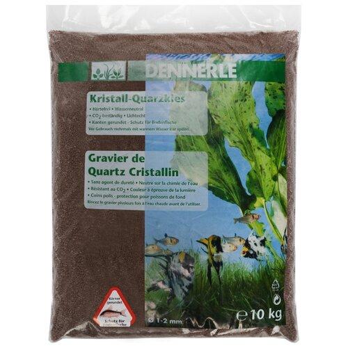 Грунт Dennerle Kristall-Quarzkies, 10 кг светло-коричневый