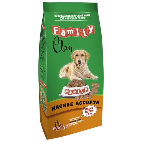 Фото - Сухой корм для собак CLAN 15 кг сухой корм для собак clan 15 кг family сухой корм мясное ассорти 15 кг