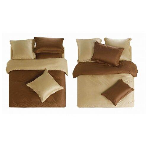 Постельное белье семейное СайлиД L-5, сатин, 50 х 70 и 70 х 70 см коричневый / бежевый od l 70 1000mm 99 5