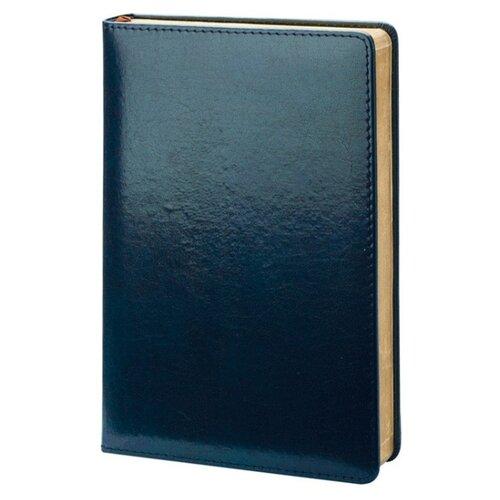 Купить Ежедневник InFolio Britannia недатированный, натуральная кожа, А5, 160 листов, синий, Ежедневники, записные книжки