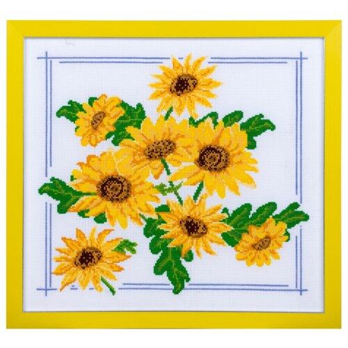 Фото - Ажур Набор для вышивания крестиком Подсолнухи 29 х 26 см (0020) ажур набор для вышивания крестиком цветущий кактус 26 х 17 см 0010