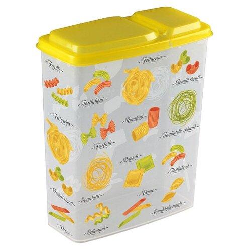 Phibo Ёмкость для сыпучих продуктов с декором (2.3 л) желтый/белый