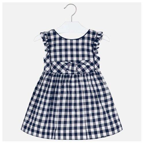 Платье Mayoral размер 110, синий/белый/клетка
