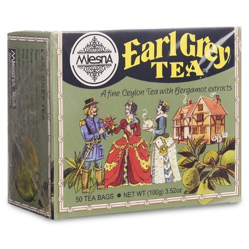 Чай черный Mlesna Earl grey в пакетиках, 50 шт. чай зеленый mlesna в пакетиках 50 шт