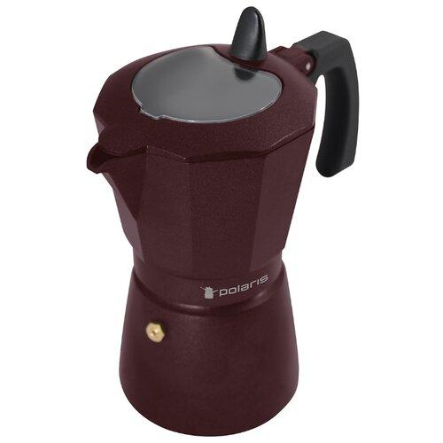 Кофеварка Polaris Burgundy-6C (6 чашек) бордовый