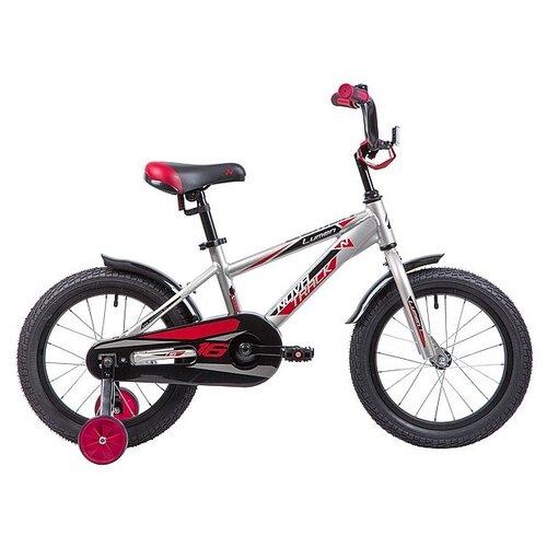 Детский велосипед Novatrack Lumen 16 (2019) серебристый (требует финальной сборки)