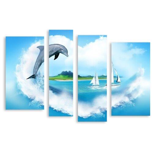 Модульная картина на холсте Островок любви 150x105 см вуд сара островок любви роман
