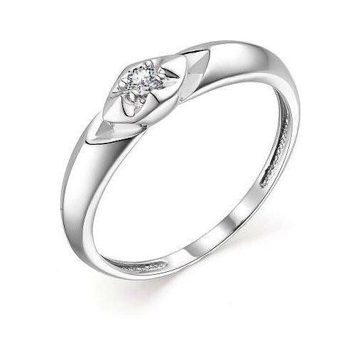 АЛЬКОР Кольцо с 1 бриллиантом из белого золота 13656-200, размер 17 алькор кольцо с 1 бриллиантом из белого золота 13299 200 размер 17