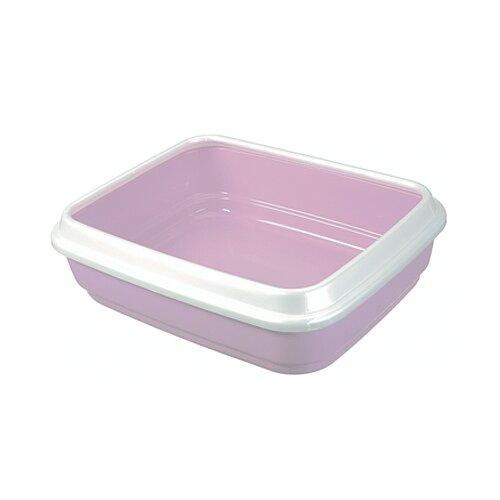 Туалет-лоток для кошек Imac Jerry 50х40х14.5 см пепельно-розовый