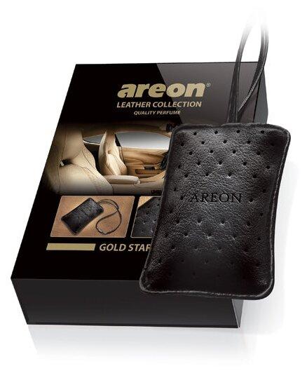 AREON Ароматизатор для автомобиля Leather Collection Gold
