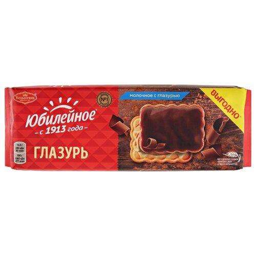 Печенье Юбилейное молочное с глазурью, 232 г
