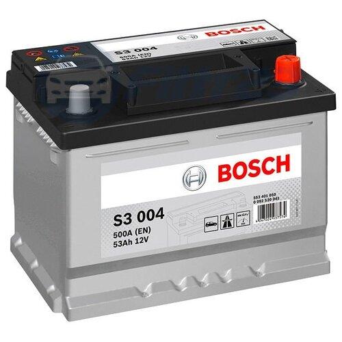 Автомобильный аккумулятор Bosch S3 004 (0 092 S30 041)