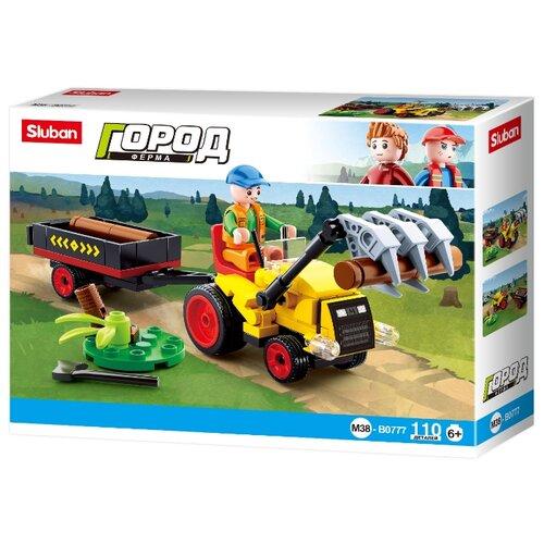 Купить Конструктор SLUBAN Город M38-B0777 Фермерский трактор, Конструкторы