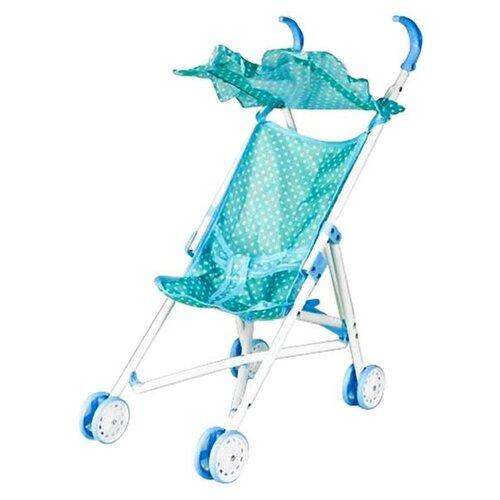 Прогулочная коляска Наша игрушка Жемчуг M7506-1 голубой