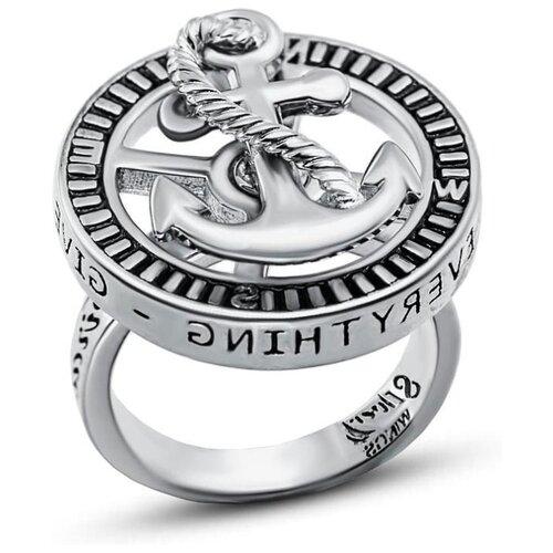 Silver WINGS Кольцо с эмалью из серебра 0101ap-113, размер 18 фото