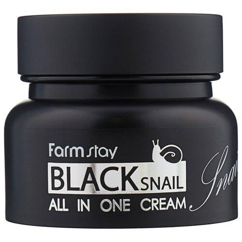 Farmstay Black Snail All in One Cream Восстанавливающий крем для лица с муцином черной улитки, 100 мл farmstay snail repair cream объем 100 мл