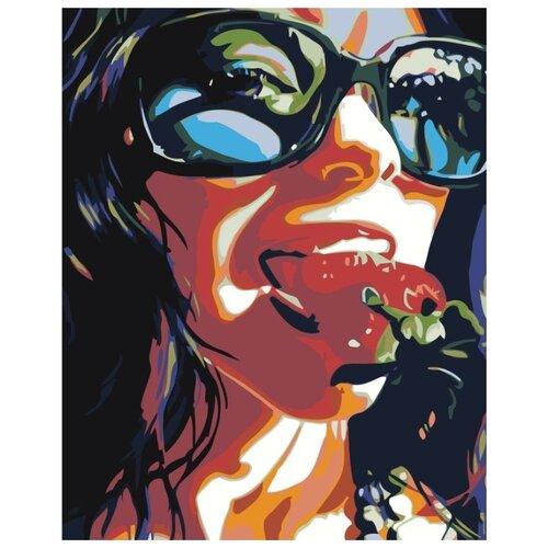 Купить Картина по номерам Живопись по Номерам Девушка и клубника , 40x50 см, Живопись по номерам, Картины по номерам и контурам