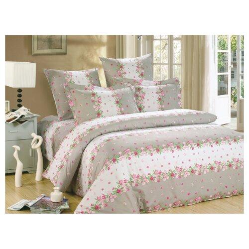 Постельное белье 1.5-спальное СайлиД A-142, поплин, 70 х 70 см розовый/коричневый