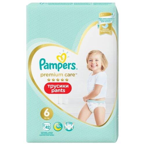 цена на Pampers Premium Care трусики 6 (15+ кг) 42 шт.