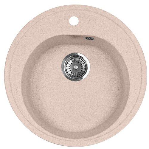 Фото - Врезная кухонная мойка 51 см А-Гранит M-08 розовый врезная кухонная мойка 47 5 см а гранит m 05 красный марс