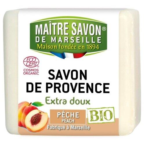Мыло кусковое Maitre Savon de Marseille Персик, 100 г цена 2017
