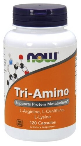 Now Foods Tri-Amino, 120 Капсул
