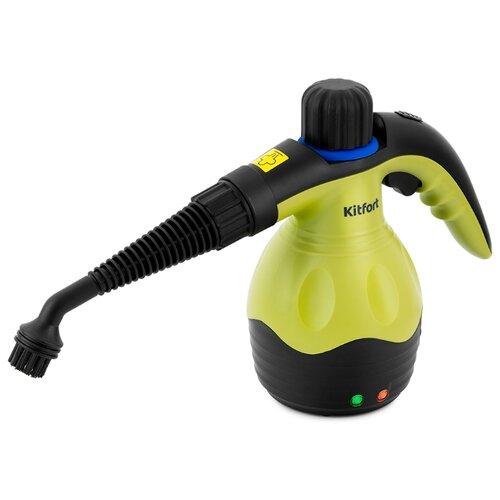 Пароочиститель Kitfort KT-950, зеленый/черный