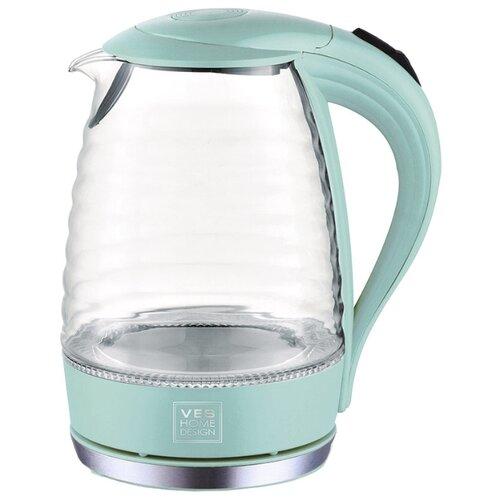 Чайник VES electric H-168, мятный чайник ves electric 2100 белый