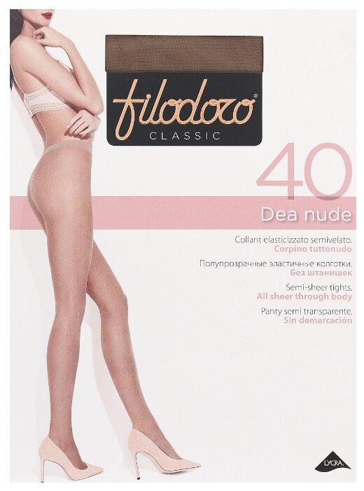 Купить Колготки Filodoro Classic Dea Nude 40 den, размер 2-S, glace (коричневый) по низкой цене с доставкой из Яндекс.Маркета (бывший Беру)