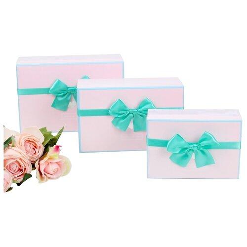 Набор подарочных коробок Yiwu Zhousima Crafts 2963194 - 95, 3 шт. светло-розовый