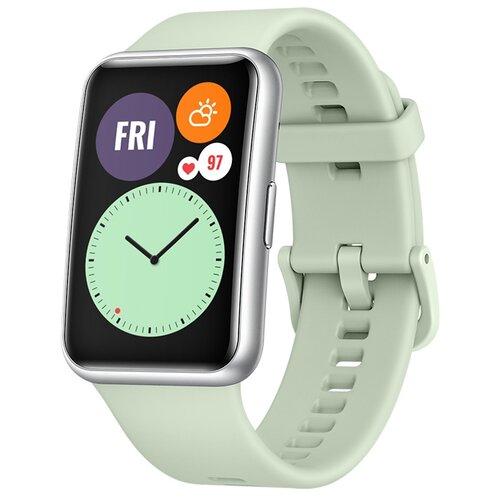 Умные часы c GPS HUAWEI Watch Fit мятный зеленый умные часы c gps huawei watch gt classic коричневый