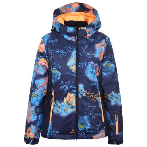 Куртка ICEPEAK размер 140, темно-синий принт пуховик женский icepeak цвет темно синий 253053532iv размер 46 52
