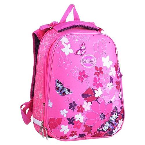 Купить Hatber рюкзак Ergonomic Butterfly NRk_15004, розовый, Рюкзаки, ранцы