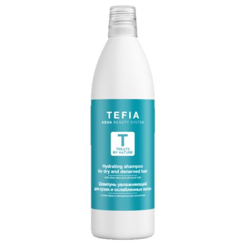 Tefia шампунь Treats By Nature увлажняющий для сухих и ослабленных волос с алоэ вера и миндальным молочком 1000 мл christophe robin hydrating шампунь увлажняющий с алоэ вера