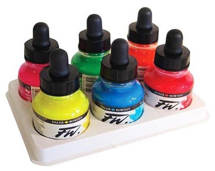 Чернила для перьевой ручки Daler-Rowney FW Artists Neon Colours Set