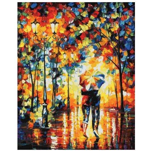 Купить Картина по номерам Под одним зонтом , 40x50 см, Белоснежка, Картины по номерам и контурам