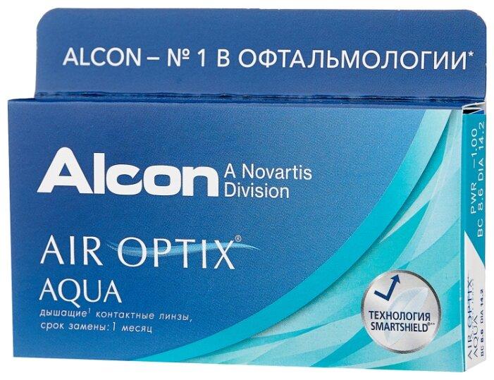 Контактные линзы Alcon Air Optix Aqua -00.50 R=8.6