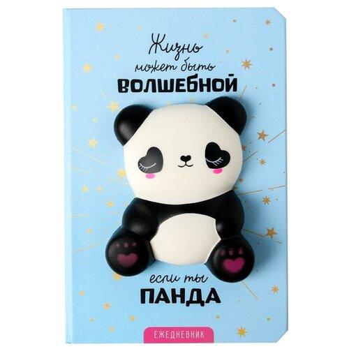 Купить Ежедневник ArtFox Панда 4679263 недатированный, А5, 80 листов, голубой, Ежедневники, записные книжки