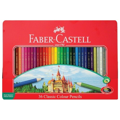 Купить Faber-Castell Карандаши цветные Замок, 36 цветов (115886), Цветные карандаши