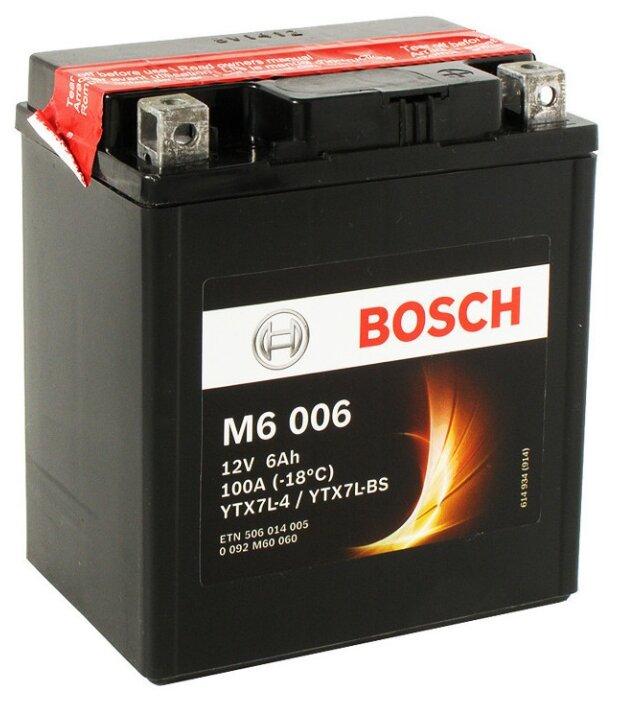 Мото аккумулятор Bosch M6 006 AGM (0 092 M60 060)