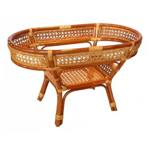 Стол ЭкоДизайн Пеланги 02/15А-1 коньячный комплект плетеной мебели экодизайн пеланги 02 15 1