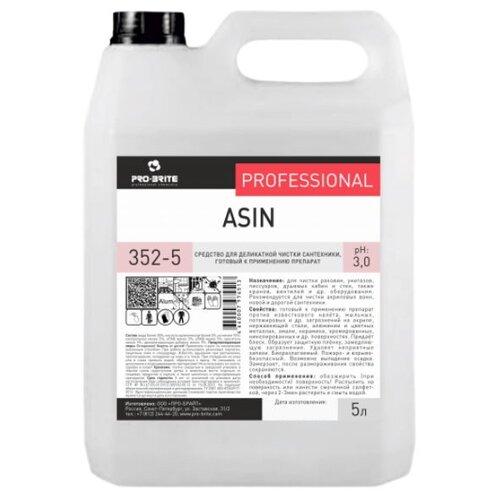 Фото - Pro-Brite жидкость для деликатной чистки сантехники Asin, 5 л pro brite гель для сантехники active shine bleach cleaner цветочная свежесть 0 75 л