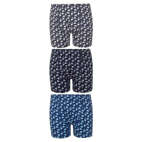 Купить Трусы BAYKAR 3 шт., размер 158/164, серый/синий/темно-синий, Белье и пляжная мода