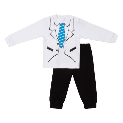 Комплект одежды Утенок размер 92, белый/синий/черный, Комплекты  - купить со скидкой