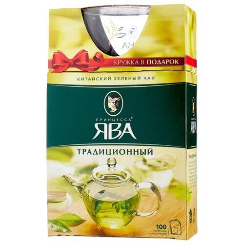 цена на Чай зеленый Принцесса ЯВА Традиционный в пакетиках подарочный набор, 100 шт.