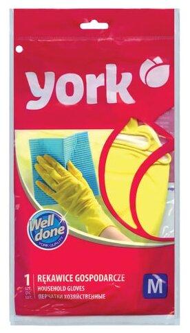 Перчатки York хозяйственные резиновые
