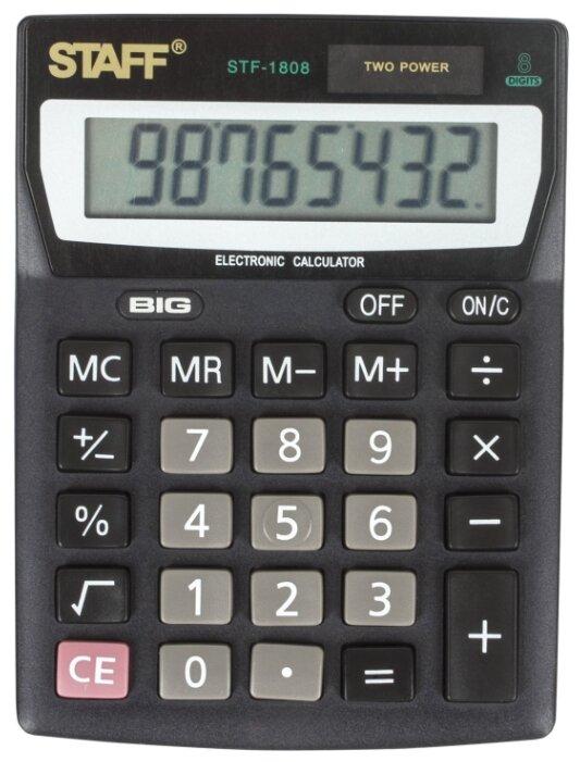 Калькулятор бухгалтерский STAFF STF-1808